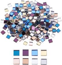 240Pcs Square Mini Glass Mirror Mosaic Tiles Craft Decorative Mosaic Tile Crafts
