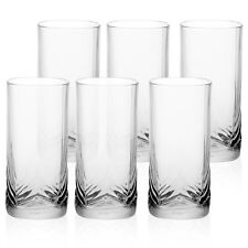 6x 30cl Tall Pasabahce Glasses Gift Boxed Set Wedding Xmas Tumblers Clear Cups