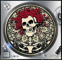 "The Grateful Dead Design1 Slipmat Turntable 12"" LP Record Player, DJ Audiophile"