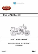 Moto Guzzi parts manual book 2005, 2006 & 2007 Breva V IE 1100