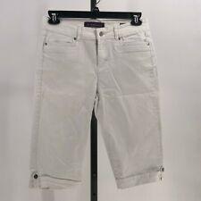 Gloria Vanderbilt skimmer shorts white denim size 8P