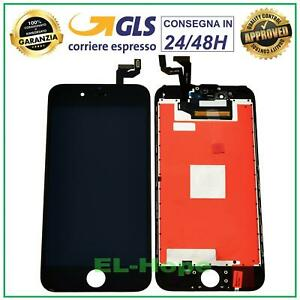 DISPLAY LCD RETINA APPLE IPHONE 6S TOUCH SCREEN FRAME SCHERMO VETRO NERO TIANMA