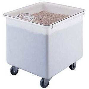 Mobile Ingredient Bin, Flat Top, 32 Gallon Capacity