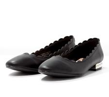 Dorothy Perkins para mujer UK 4 EU 37 Negro Perla Adornado Bailarinas Zapatos sin Taco