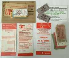 More details for lot of various vintage railway tickets and labels platform & travel
