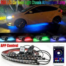 4Pcs Rgb Led Underbody Car Neon Light Chassis Atmosphere Lamp Light App Control