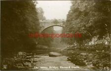 REAL PHOTO POSTCARD OF THE ABBEY BRIDGE, BARNARD CASTLE, COUNTY DURHAM, PHOENIX