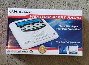 Midland WR120 NOAA Emergency Weather Alert Radio with Alarm Clock White NEW
