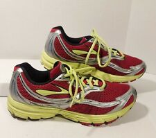 Brooks Mens Launch HPR 10.5 Running Shoes Red, Yellow, Silver