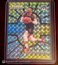 2019/20 PANINI MOSAIC RUSSELL WESTBROOK CENTER STAGE SILVER REFRACTOR CARD #8
