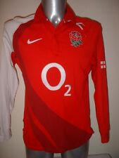 England Rugby Union Cotton L/S Shirt Jersey Nike Adult Small O2 World Cup Change