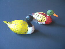 "Two Small Resin Ducks 3"" Long Both In Good Condition"