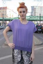 Damen Bluse blouse shirt lila violet purple 80er True VINTAGE 80´s women