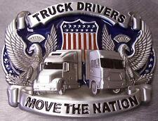 Pewter Belt Buckle American Truck Drivers Move the Nation NEW