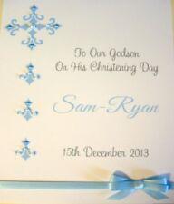 Hand-Made Personalised Christening Card Son Daughter Godson Goddaughter Children
