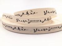 DIY 5-10y bird Printed Grosgrain Ribbon Hair Bow Sewing Ribbon 15mm Sewing