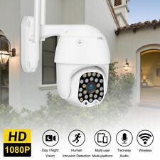 1080P HD IP CCTV Camera Smart Outdoor WiFi PTZ Security Wireless IR Cam Dome UK