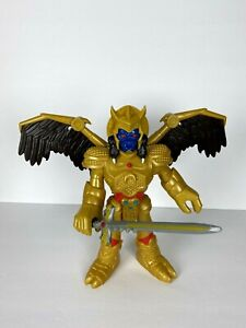 """Imaginext Power Rangers Goldar Action Figure With Sword Moveable Wings Arm 11"""""""
