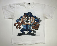 Vintage Looney Tunes Taz 1994 T-shirt Men's Xl White 90s Tv Show Single Stitch