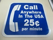 """Call Anywhere IN THE USA 12"""" x 12"""" Metal Sign - NOS"""