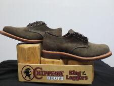 Men's Chippewa Chocolate Suede Oxford Dress Shoe Size 7 Medium Made in USA