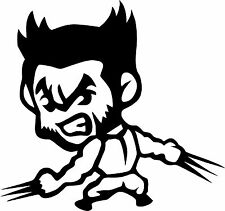 Cute Wolverine Logan Decal Vinyl Truck Car Window Sticker Comics X-Men