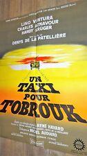 UN TAXI POUR TOBROUK !  lino ventura aznavour affiche cinema 1961