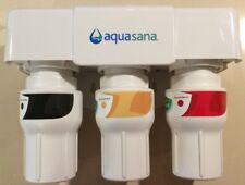 Aquasana 3-Stage Under Counter Drinking Water Filter System Housing & Filters