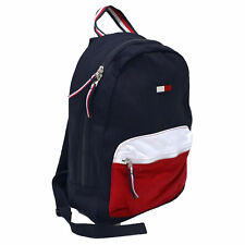 Tommy Hilfiger Backpack Canvas Book Bag School Travel Colorblock Unisex