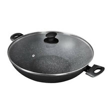100% Genuine! PYROSTONE by PYROLUX 36cm Non-stick Wok with Lid! RRP $169.00!