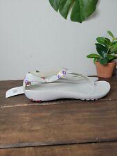 Crocs Serena Graphic Tropical Floral Pearl Summer Sandals 205932 Grey Women's 8