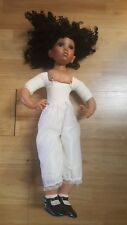 "Donna RuBert 24"" Porcelain Doll Black African American Girl AEl 2005 #A894"