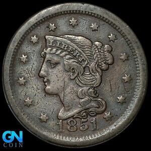 1851 Braided Hair Large Cent --  MAKE US AN OFFER!  #K8548