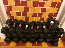 Weider CAP Rubber Hex Dumbbell Weight Sets 5, 15, 20, 30, 35, 40 LB CHOOSE SIZE