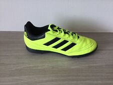 Boys ADIDAS Astro Turf Trainers Size UK 5.5 Bright Yellow Excellent Condition