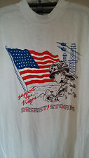 VINTAGE T SHIRT 90'S DESERT STORM-SUPPORT OUR TROOPS XL-AMERICAN FLAG-EC-USA