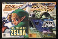 2 VINTAGE NINTENDO POWER MAGAZINE NES 114 & 115 LEGEND OF ZELDA - 1998 NICE!!