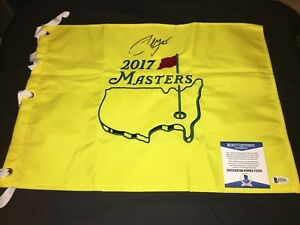 Sergio Garcia Signed Official Masters Flag 2017 Masters Champion Beckett