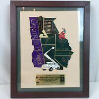 1996 Atlanta Georgia Power Olympic Team Pin Set Puzzle Sign Framed