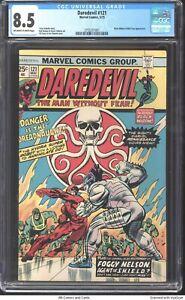 Daredevil #121 1975 CGC 8.5 - Black Widow & Nick Fury appearance.