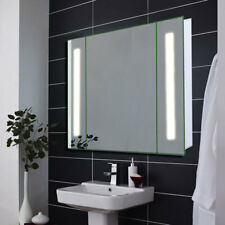 Led Illuminous Bathroom Sensor Mirror Cabinet Shaver Socket Fog Demister IP44 UK