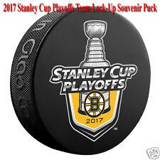 2017 Boston Bruins NHL Stanley Cup Playoff Lock-Up Souvenir Hockey Puck - NEW