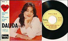 "DALIDA 45 TOURS EP 7"" BELGIUM MON AMOUR OUBLIE"