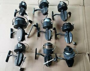 9 Vintage Garcia Mitchell Spinning Fishing Reels 300 301 306 308 320 For Parts