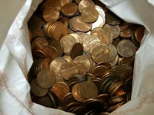 5 Bags=$150 Face Value, Clean Zinc Pennies. Real U.S. Coinage! 82 LBS U.S. Money