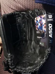 Wilson 2019 A500 12.5in Baseball Glove - Right-Hand Throw All Black Authentic