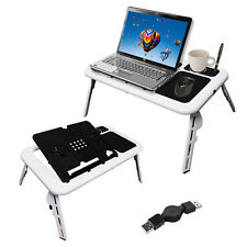 2 Cooling Fans Mouse Pad USB Storage Folding Laptop Table New