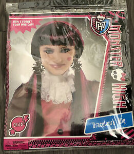 BRAND NEW in PACKAGE MONSTER HIGH Draculaura Wig CHILD SIZE Officially Licensed