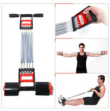 Expander-Set, Metall Wiederstandsbänder Fitnessbänder Fitnesstraining 5 Federn