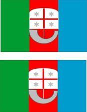 2 x Autocollant sticker voiture pc vinyl macbook drapeau italie italien ligurie
